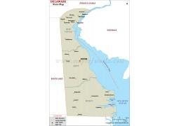 Delaware State Map  - Digital File