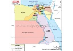 Egypt Political Map  - Digital File