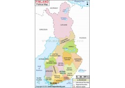 Finland Political Map  - Digital File