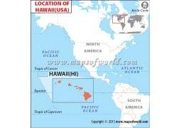 Hawaii Location Map - Digital File