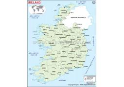 Ireland Political Map  - Digital File