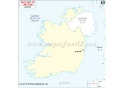Ireland Outline Map  - Digital File