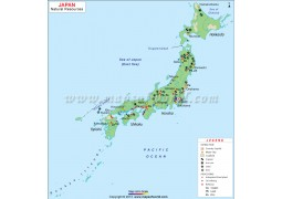 Japan Natural Resources Map - Digital File