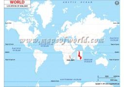 Malawi Location Map - Digital File