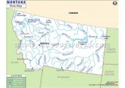 Montana River Map - Digital File