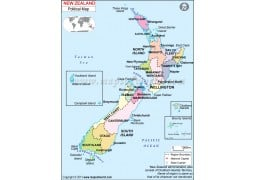 New Zealand Political Map - Digital File