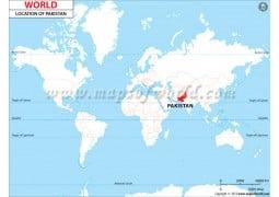 Pakistan Location Map - Digital File