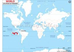 Panama Location Map - Digital File