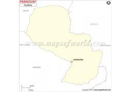 Paraguay Outline Map - Digital File