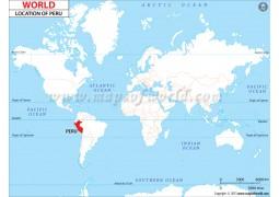 Peru Location Map - Digital File