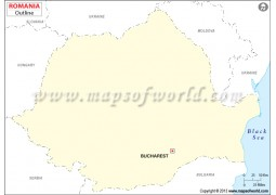 Romania Outline Map - Digital File