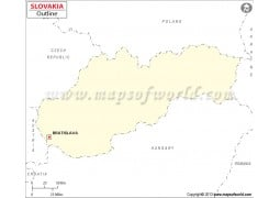 Slovakia Outline Map - Digital File