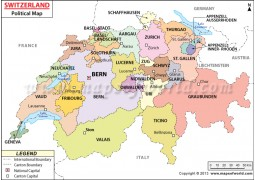 Political Map of Switzerland