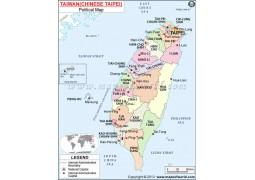 Taiwan Political Map - Digital File