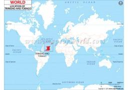 Trinidad and Tobago Location Map - Digital File
