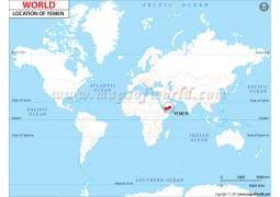 Yemen Location Map  - Digital File