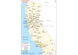California Road Map  - Digital File