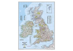 Britain/UK and Ireland Classic Wall Map