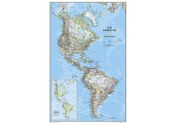 The Americas Classic Wall Map