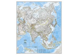 Asia Classic Wall Map