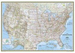 US Classic Wall Map (Large and Laminated)