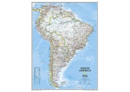South America Classic Wall Map, large