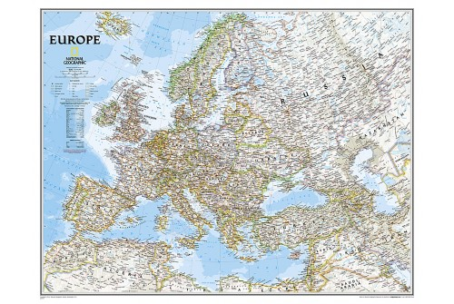 Large Europe Wall Map