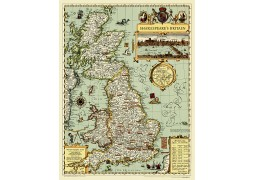 """Shakespeare's Britain Wall Map 21""""W x 27""""H"""