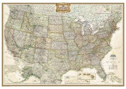 Large United States Executive Wall Map