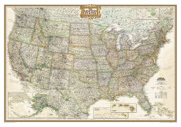 United States Executive Wall Map (Laminated)