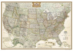 United States Executive Wall Map (Large and Laminated)
