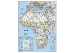 Africa Classic Large Wall Map, laminated