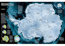 Antarctica Satellite Wall Map, laminated