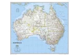 Australia Classic Wall Map, laminated