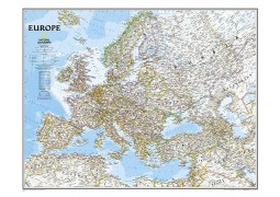 Europe Classic Wall Map, Laminated