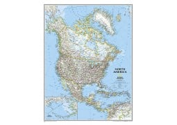North America Classic Wall Map, laminated