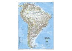 South America Classic Wall Map, laminated