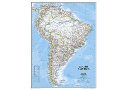 South America Classic Large Wall Map, laminated