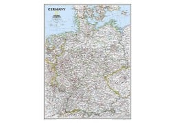 "Germany Classic Wall Map, Laminated 23""W x 30""H"