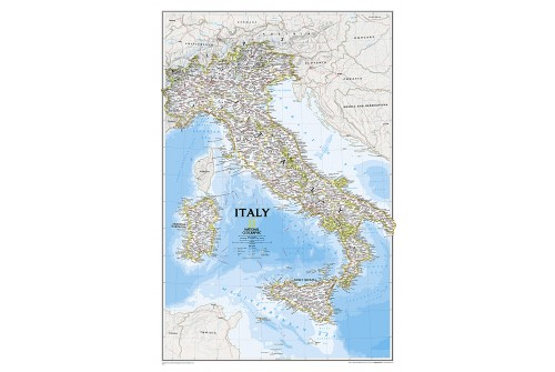 Italy Classic Wall Map, laminated