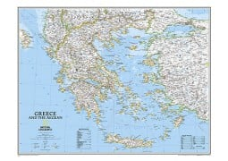 Greece Classic Wall Map, laminated