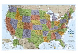 United States Explorer Wall Map (Laminated)