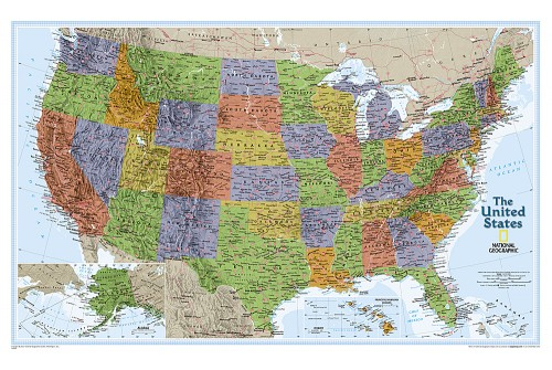 "United States Explorer Wall Map (Laminated) 32""W x 20""H"