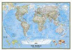 "World Classic Wall Map 43.5"" W x 30.5"" H"