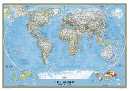 "World Classic Wall Map [Mural] 110"" W x 76.5"" H"