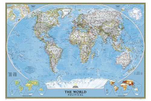 Buy World Classic Wall Map Printed World Classic Wall Map – Map World Large