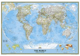 "World Classic Wall Map [Enlarged] 69.25"" W x 48"" H"