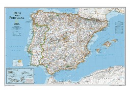 Spain and Portugal Classic Wall Map