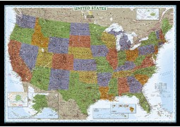 Decorator Map of USA  (Laminated)