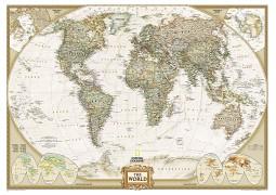 "World Executive Map Mural 106.25"" W x 76.5"" H"
